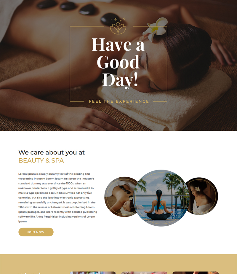 beauty spa html5 bootstrap free template