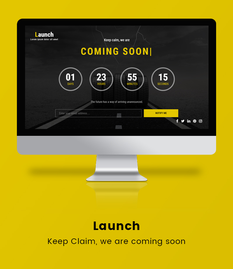 Launch under maintenance html5 coming soon countdown template for Maintenance mode html template