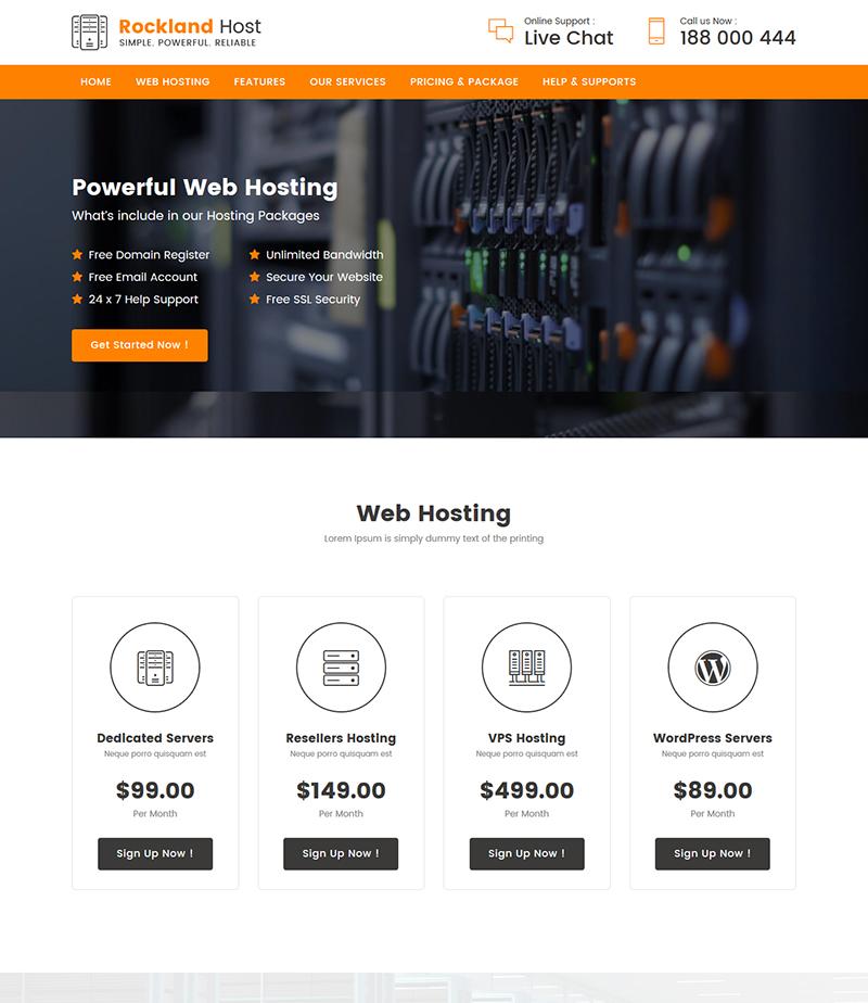 Landing page хостинг бесплатно registrant хостинг