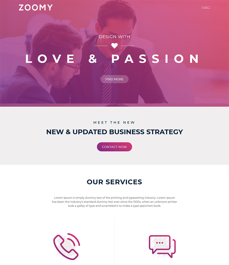Zoomy business consulting bootstrap website templates zoomy business consulting and professional services html template cheaphphosting Image collections